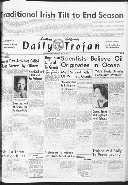 Daily Trojan, Vol. 47, No. 49, November 23, 1955