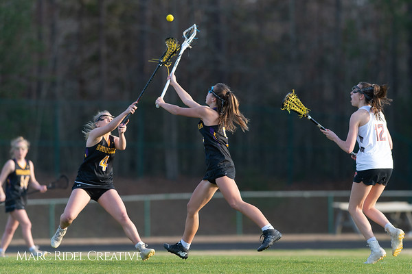 Broughton Lady Caps lacrosse at Middle Creek. February 26, 2019. D4S_1729