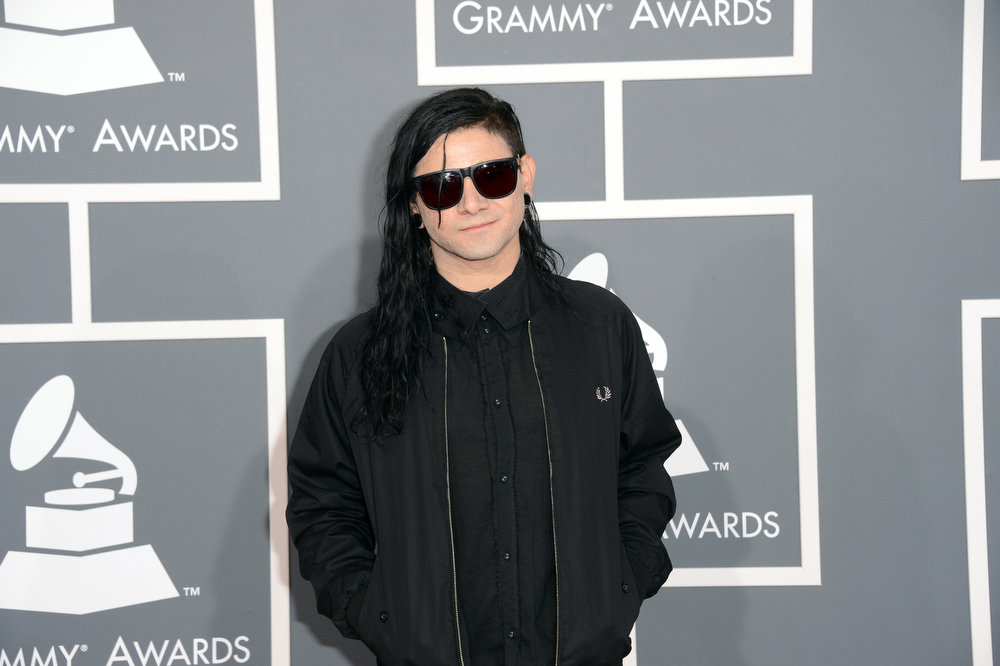 . Musician Skrillex arrives at the 55th Annual GRAMMY Awards at Staples Center on February 10, 2013 in Los Angeles, California.  (Photo by Jason Merritt/Getty Images)