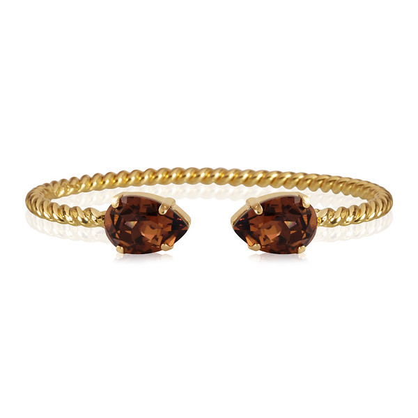 Mini Drop Bracelet / Smoked Topaz Gold