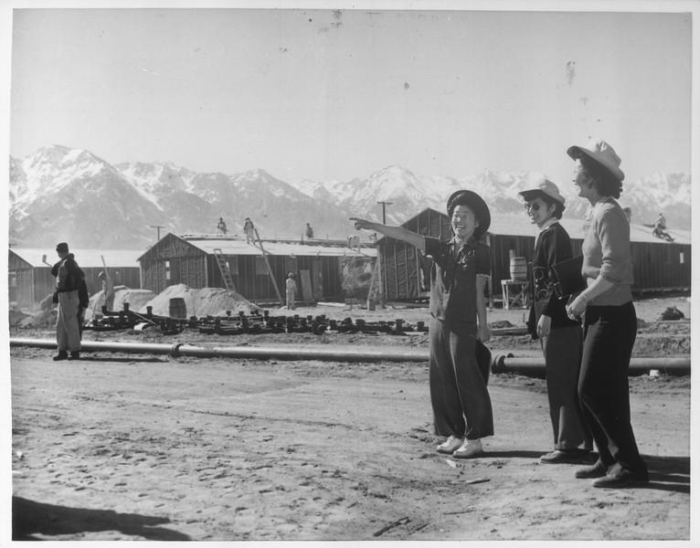 """Japanese Evacuee Colony"" -- caption on photograph"