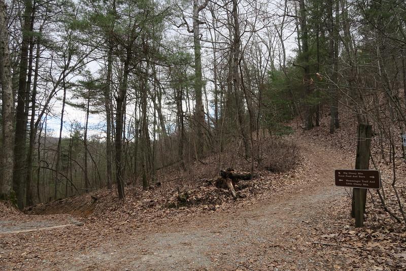 Glassy Mountain-Memminger-Spring Trail Junction