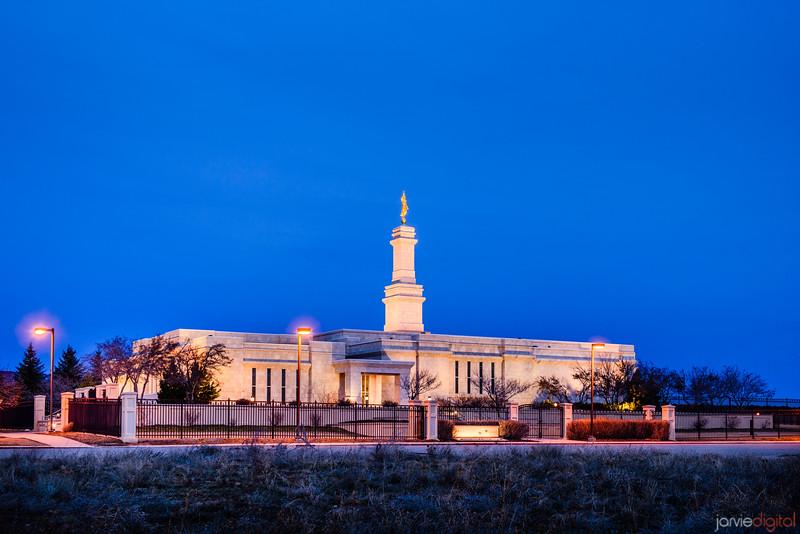 Monticello Temple Across Street