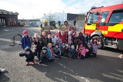 Primary 1 pupils from Dromintee PS enjoyed a tour of Newry Fire Station. R1609005