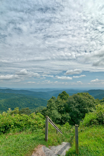 on the Blue Ridge Parkway in North Carolina
