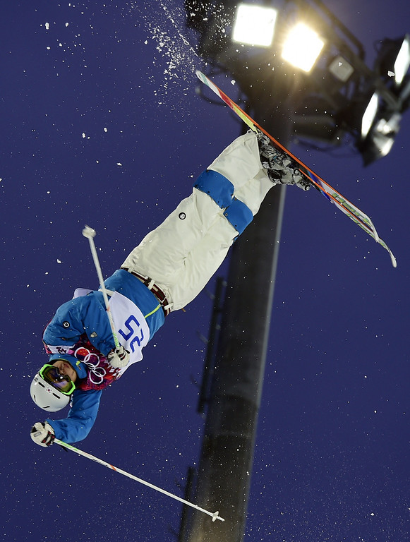 . South Korea\'s Choi Jae-Woo competes in the Men\'s Freestyle Skiing Moguls qualifications at the Rosa Khutor Extreme Park during the Sochi Winter Olympics on February 10, 2014.      AFP PHOTO / JAVIER SORIANO/AFP/Getty Images
