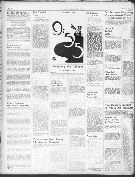 Daily Trojan, Vol. 30, No. 12, October 04, 1938