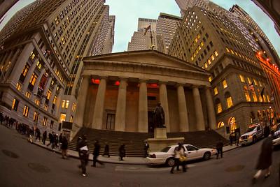 Nite Falls Ova Wall Street