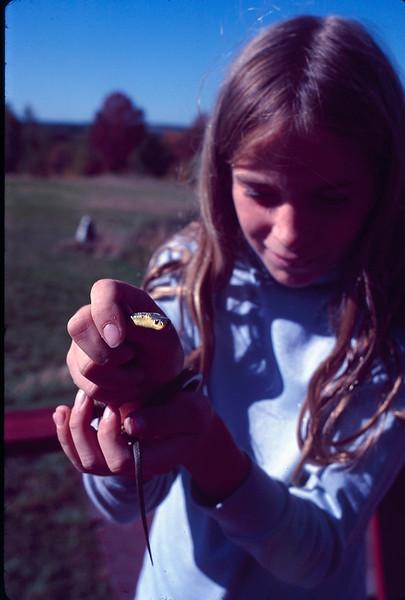 1978 09 Heather and snake.jpg