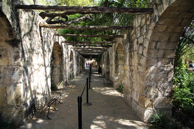 The entryway to the Alamo