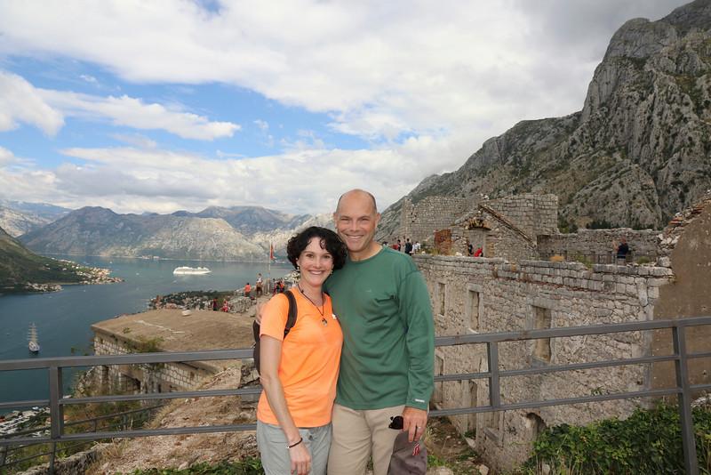 Sweaty but all smiles! - St. John Fortress  -  Kotor, Montenegro