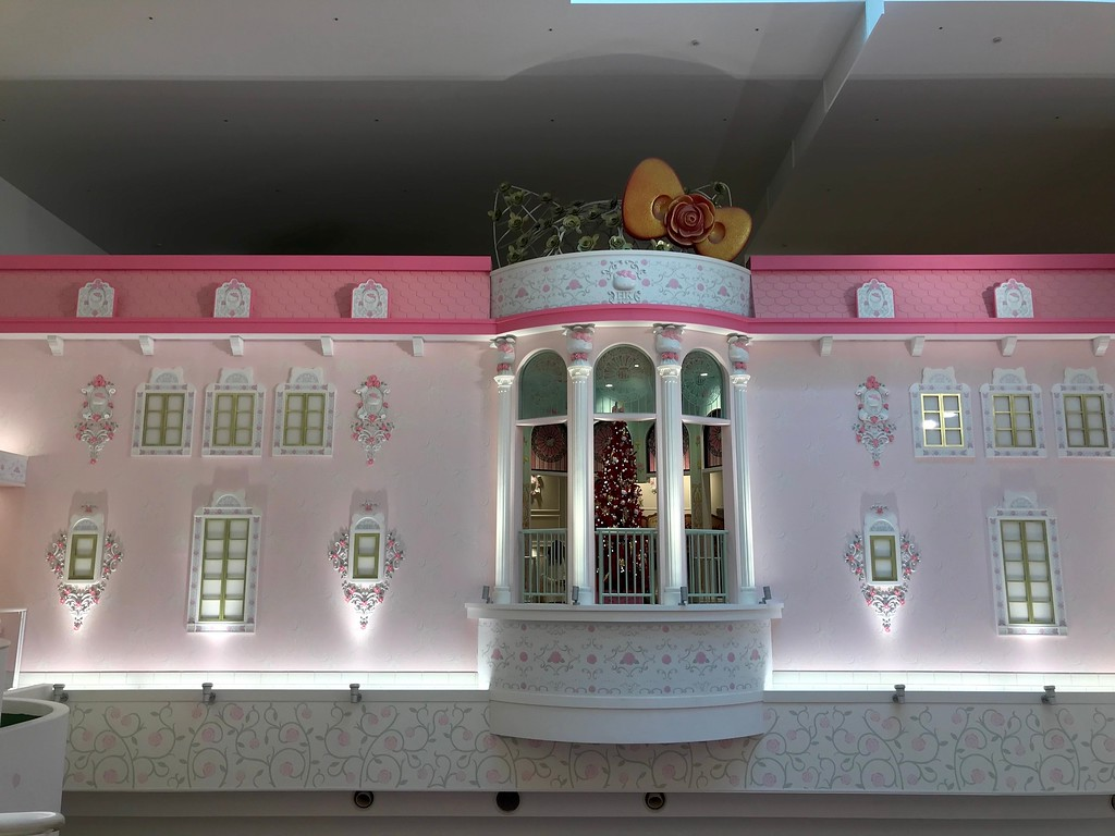 The outside of Hello Kitty's house in Sanrio Town.
