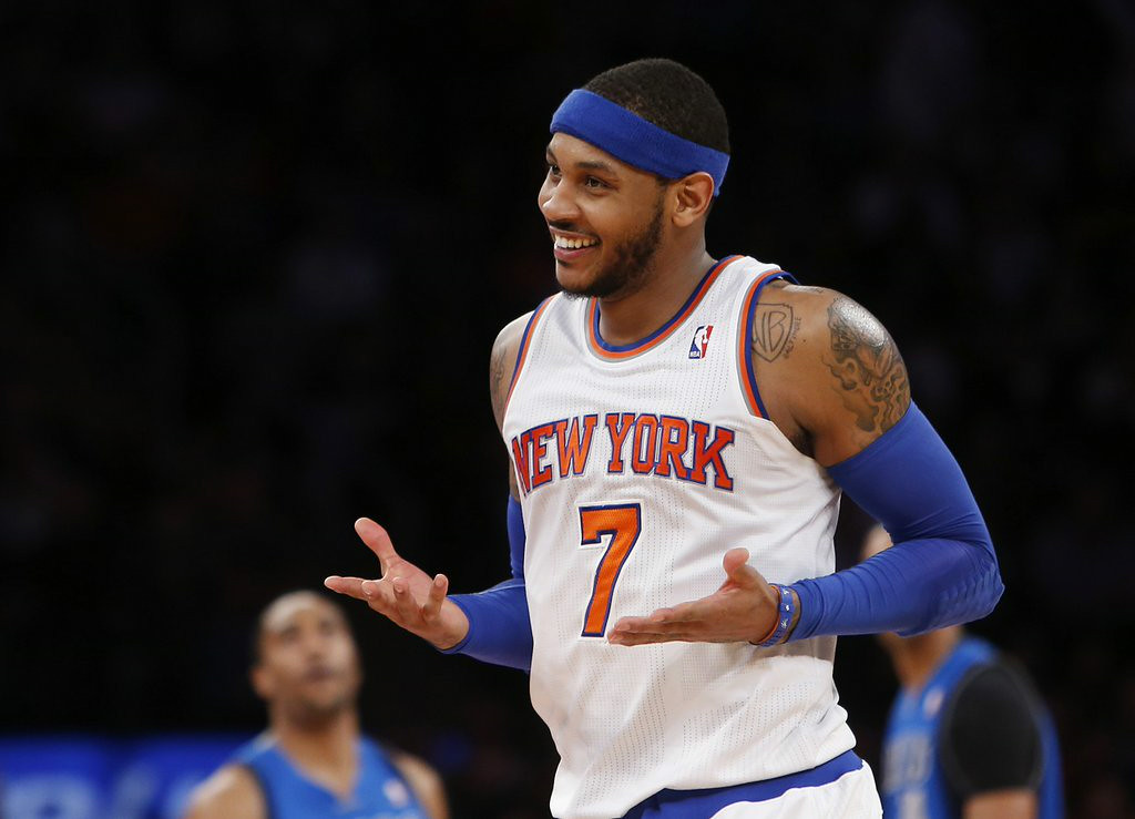 """. 7. CARMELO ANTHONY <p>He�s no LeBron, which is why he�s stuck being a Knick. (unranked) </p><p><b><a href=\""""http://www.nydailynews.com/sports/basketball/knicks/carmelo-anthony-knicks-working-final-details-new-deal-article-1.1864375\"""" target=\""""_blank\""""> LINK </a></b> </p><p>   (AP Photo/Jason DeCrow, File)</p>"""