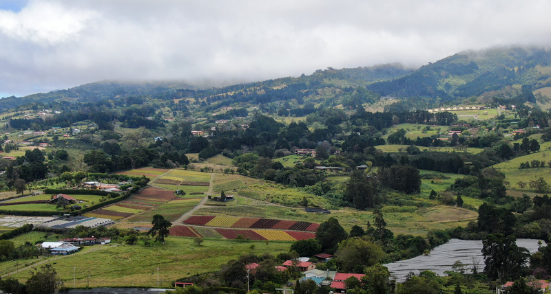 Colorful village in the mountains of Heredia, Costa Rica