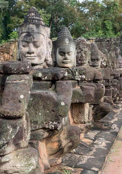 Statues of Gods, Angkor Thom