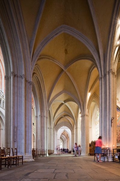 Interior of Saint-Corentin Cathedral, town of Quimper, departament of Finistere, region of Brittany, France