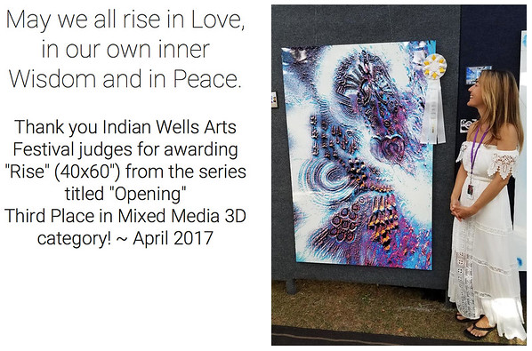 Awarded in 3D Mixed Media - Indian Wells Arts Festival 2017