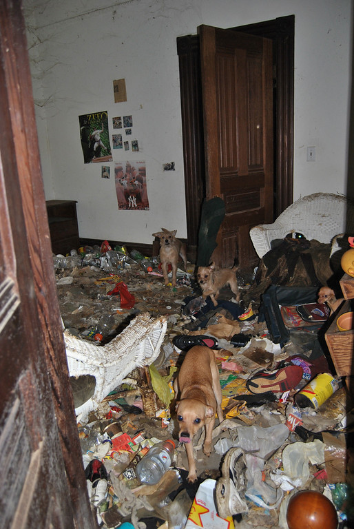 . The historic house was so trashed it\'s been labeled as uninhabitable. (SPCA for Monterey County)