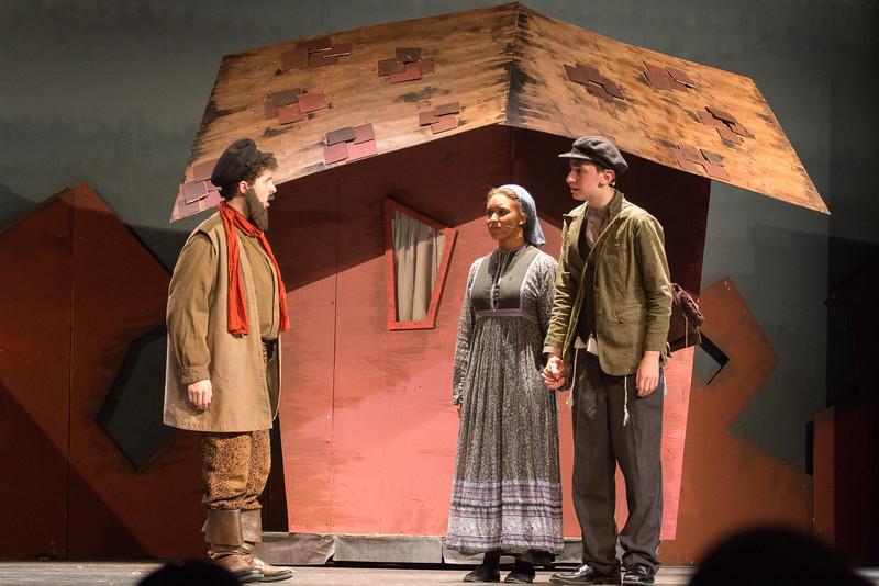 Tevye, Hodel, and Perchik -- Fiddler on the Roof, Montgomery Blair High School, April 24, 2015