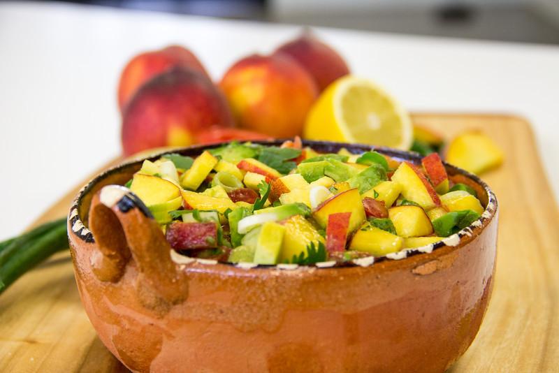 Summeripe Peach Salsa from The Kitchen at Summeripe