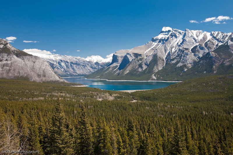 Lake Minnewanka from Cascade Mountain in Banff National Park