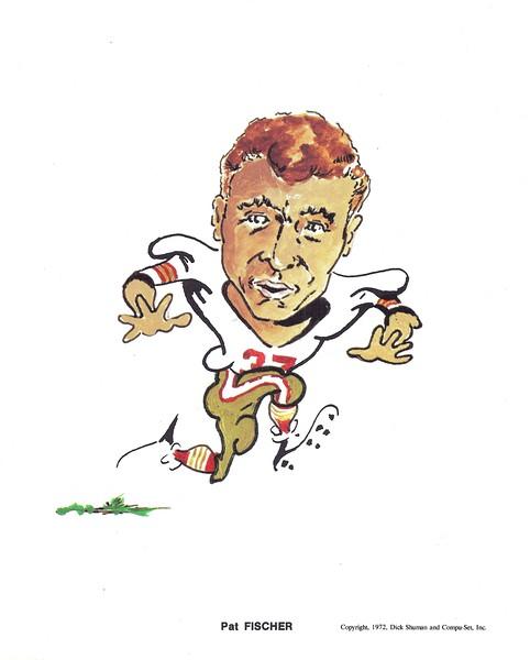 1972 Compu-Set Redskins Pat Fischer