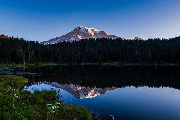 Mt Rainer from Reflection Lake