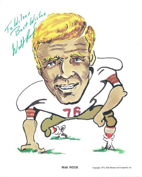 1972 Compu-Set Redskins Walt Rock