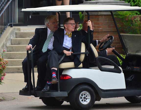 MU President Kopp and WVU President Gee-June 2014