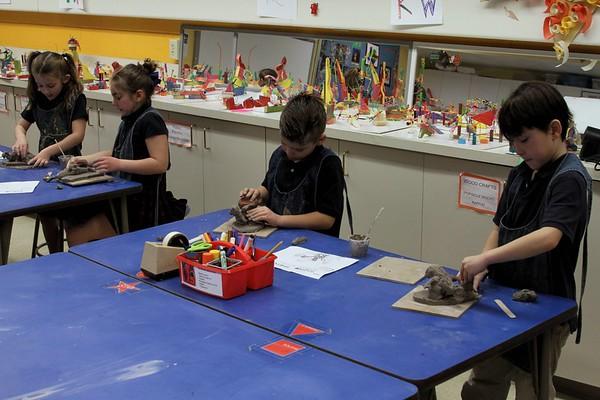 2nd Grade - Clay Dinosaurs