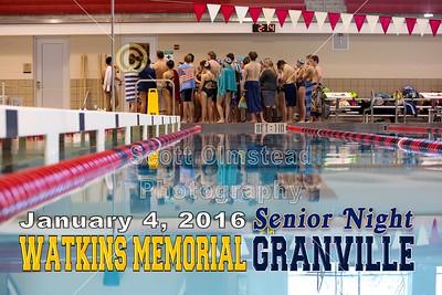 2016 Watkins Memorial at Granville (01-04-16) Senior Night
