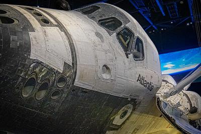 Space Shuttle Atlantis Flight Deck Windows