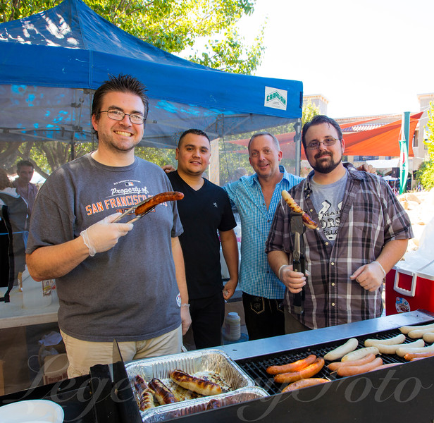 Men at the BBQ During Oktoberfest 2015