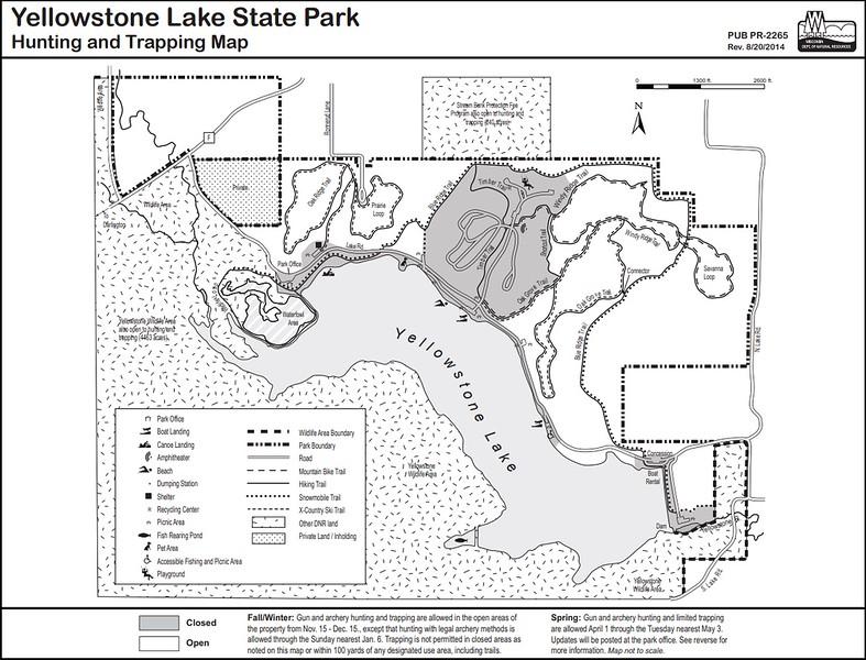 Yellowstone Lake State Park (Hunting Map)