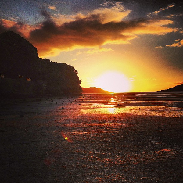 Sunset on the inlet -- Raglan, New Zealand
