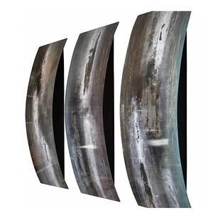 "Hydra-Skidd, 47""x20""x6"" painting on steel"