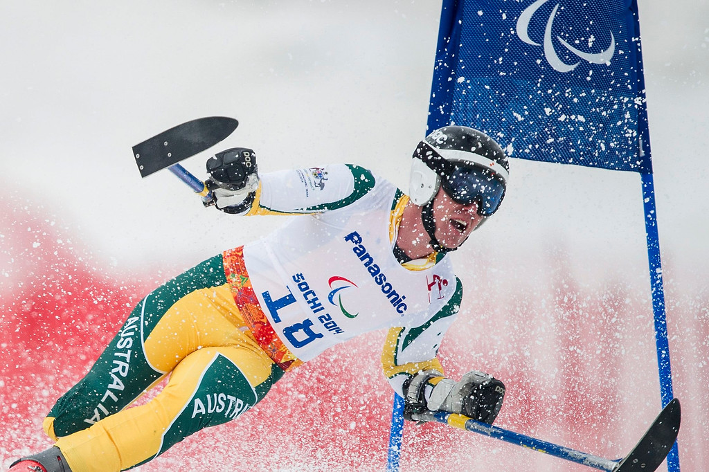 . Toby Kane of Australia competes in the men\'s super-G standing race at the Winter Paralympics 2014 Sochi in Krasnaya Polyana, Russia, on March 9, 2014.  EPA/ENNIO LEANZA
