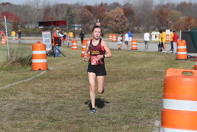 D1 Girls' at 2 Miles Section 1 - 2020 MHSAA LP XC