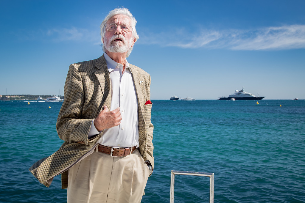 . Jean-Michel Cousteau poses for portrait photographs at the 68th international film festival, Cannes, southern France, Friday, May 15, 2015. (Photo by Vianney Le Caer/Invision/AP)