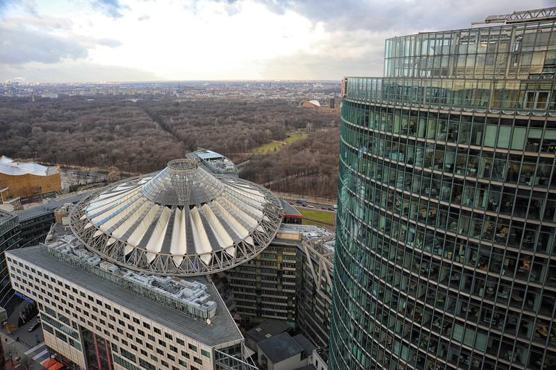 View from the Kollhof Building, Potsdamer Platz, Berlin.