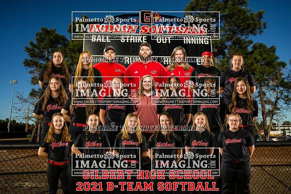 2021 Gilbert B-Team Softball Team and Individuals