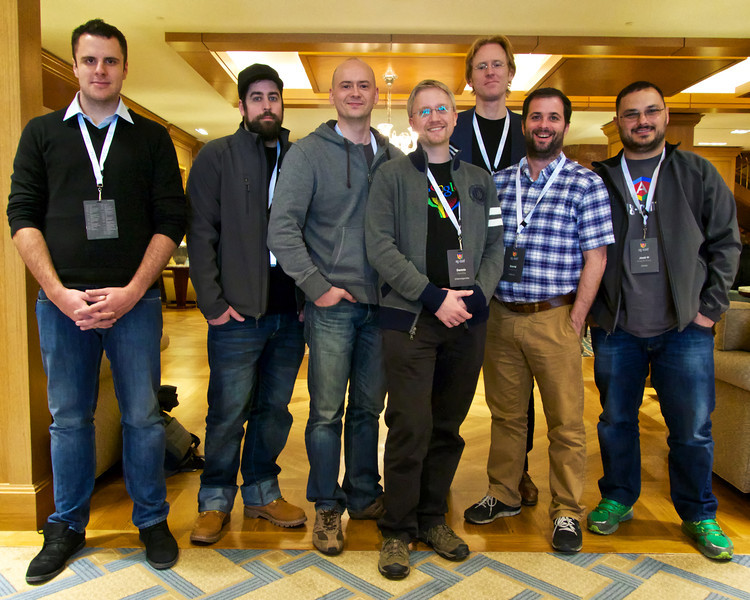 A few of ngconf's many international attendees