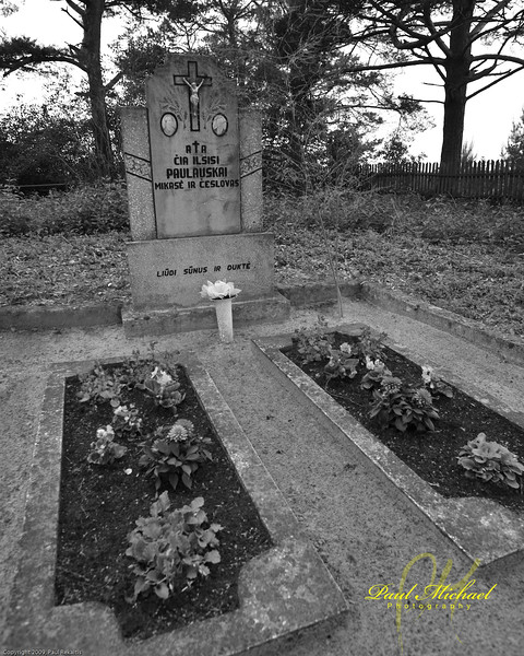 Typical grave in Lithuania