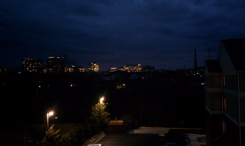 reston town center in the distance