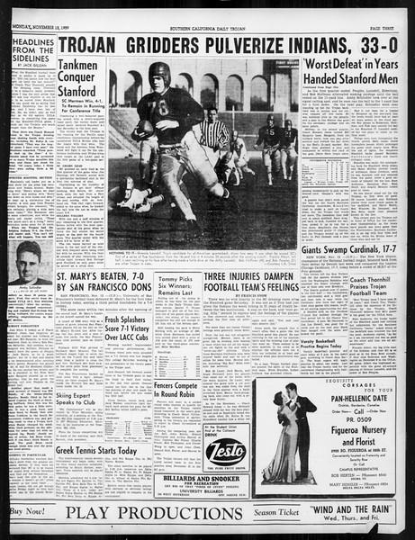 Daily Trojan, Vol. 31, No. 41, November 13, 1939