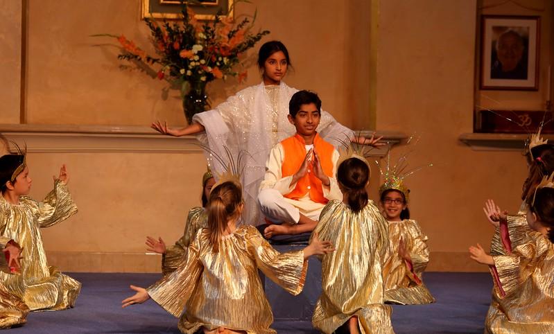 Yogananda receives a vision of the Divine Mother, through the prayers of Master Mahasaya, a great disciple of Ramakrishna.