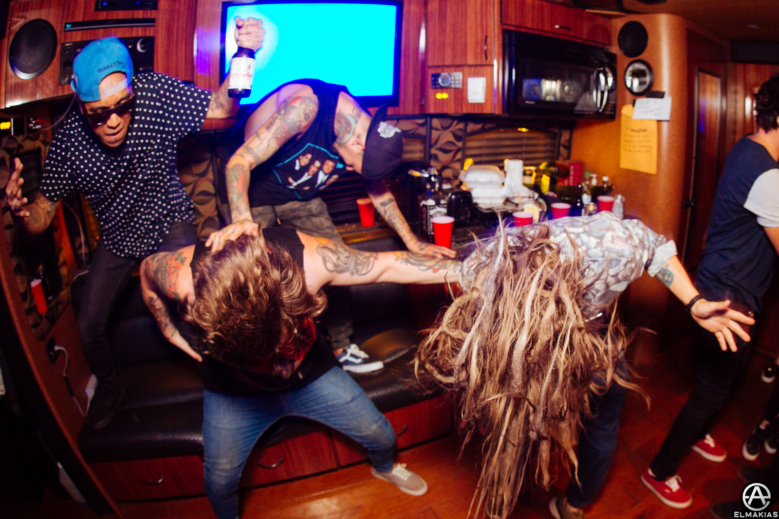 Party bus at Vans Warped Tour 2015 by Adam Elmakias