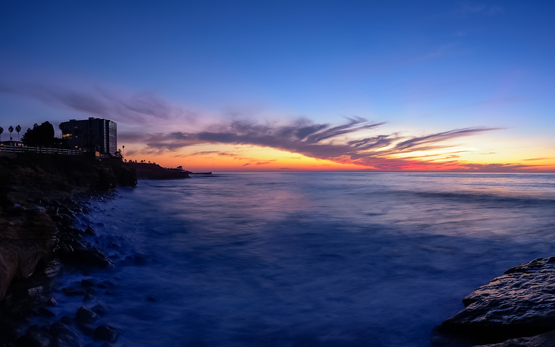Sunset at La Jolla Cove