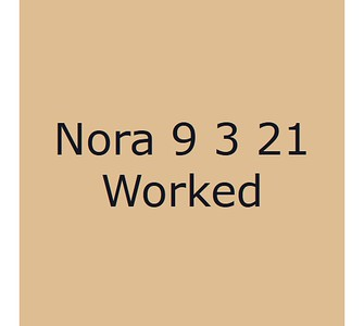 Nora 9 mars Worked