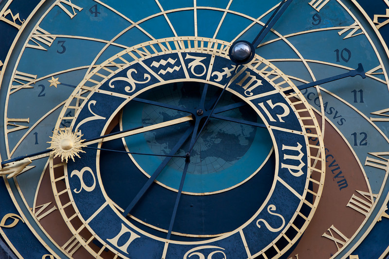 The Astronomical Clock in Prague, Czech Republic